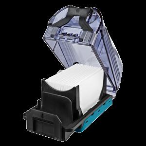 Dammbehållare med HEPA-filter DX01-DX04