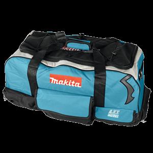 831279-0 - Kangaslaukku yleismalli pyörillä ja vetoaisalla. Omat taskut koneille ja tarvikkeille. 700x350x300mm.