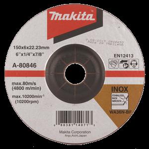Hiomalaikka metalli 150x6,0 mm, RST (INOX), punainen, ME 10kpl