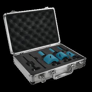 Ezychange reikäsahasarja 20, 25, 32, 40, 51, 65mm + Adapteri