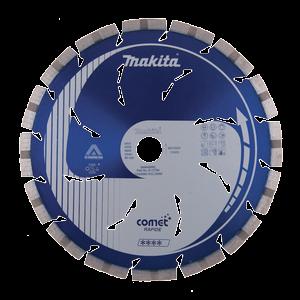 Timanttikatkaisulaikka 230mm, Comet Rapid, segmenttikorkeus 10mm, jäähdytysreiät, 3DDG