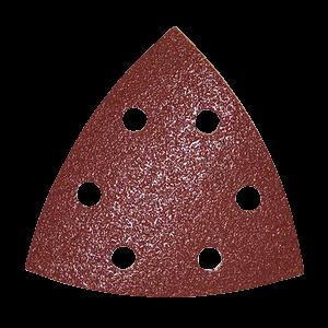Hiomapaperisarja, hiomapaperikolmio, K60, 80, 100, 120, 180, x 2 kpl, punainen