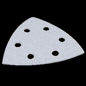 Hiomapaperikolmio, K60, 10 kpl, valkoinen