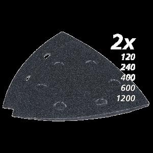 Hiomapaperisarja, hiomapaperikolmio, K120, 240, 400, 600, 1200, x 2 kpl, musta