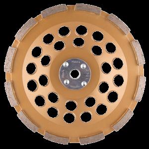 Timanttikuppilaikka 180mm, 1-rivinen segmentti, karkea hionta, M14 kiinnitys! Tärinänvaimennus.