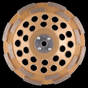 Timanttikuppilaikka 180mm, 2-rivinen segmentti, yleishionta, M14 kiinnitys! Tärinänvaimennus.