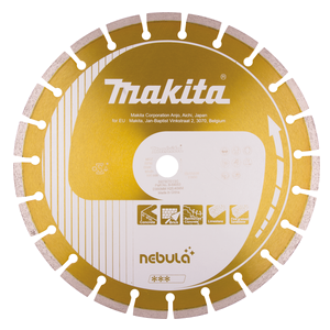 Timanttikatkaisulaikka 350x25,4/20mm, Nebula, segmenttikorkeus 10mm
