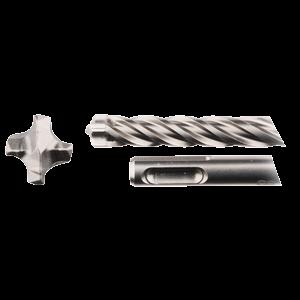SDS-Plus poranterä 6x100/165mm, 4-leikkuinen Nemesis2 -terä, 5kpl