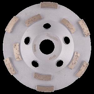 Timanttikuppilaikka 125mm, 2-rivinen segmentti, karkea hionta