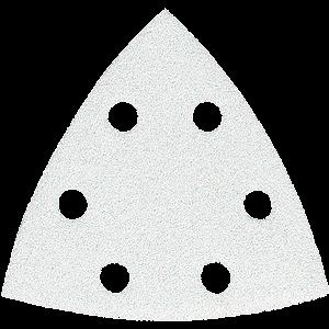 Hiomapaperi kolmio koukkutarrakiinnitys 96 x 96 x 96 K80, 10 kpl, BO4565