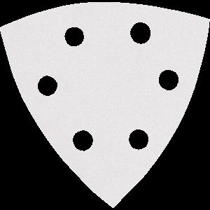 Hiomapaperi kolmio koukkutarrakiinnitys 96 x 96 x 96 K240, 10 kpl, BO4565