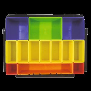 Makpac värilliset pientarvikelaatikot